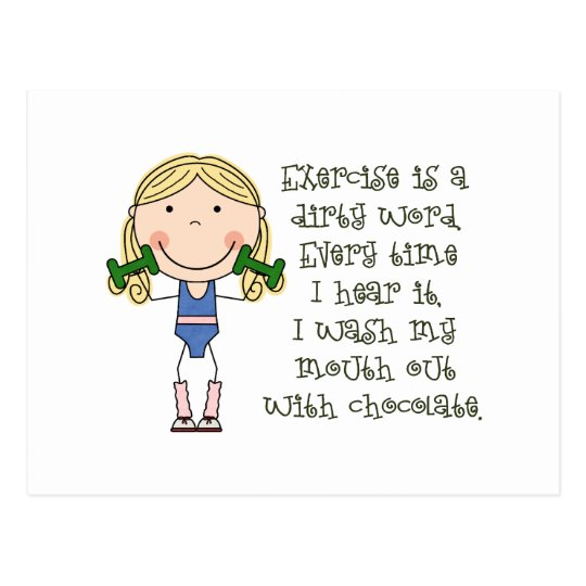 Funny Exercise Gift Postcard
