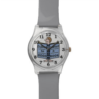 Funny Expose Yourself to a Good Book Wristwatch