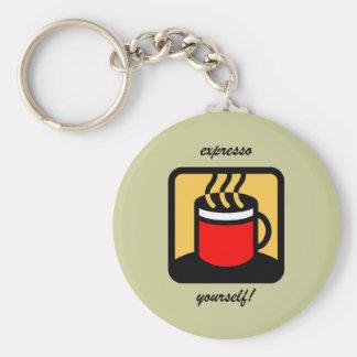 Funny expresso coffee keychain
