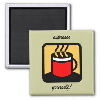 Funny expresso coffee magnet