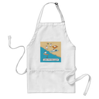 Funny Extreme Free-Range Chickens Adult Apron