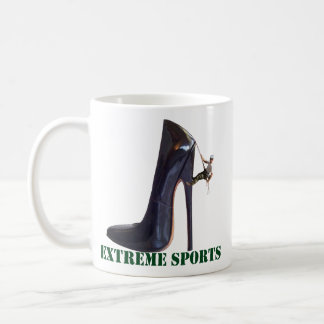 Funny Extreme Sports - Shoe Climbing Coffee Mug
