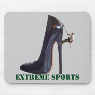 Funny Extreme Sports - Shoe Climbing Mouse Pad