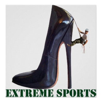 Funny Extreme Sports - Shoe Climbing Poster