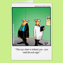 Funny Eye Chart Humor Greeting Card