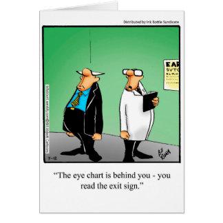 Funny Eye Chart Humor Greeting Card
