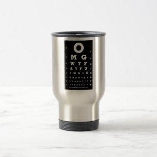 Funny Eye Chart 15 Oz Stainless Steel Travel Mug