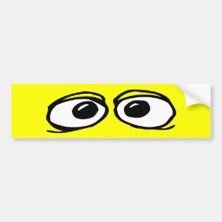 Funny Eyeballs Bumper Sticker