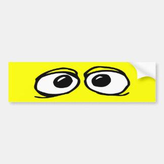 Funny Eyeballs Bumper Sticker