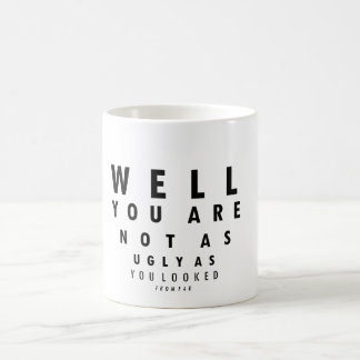 Funny Eyechart You are not as ugly Mugs
