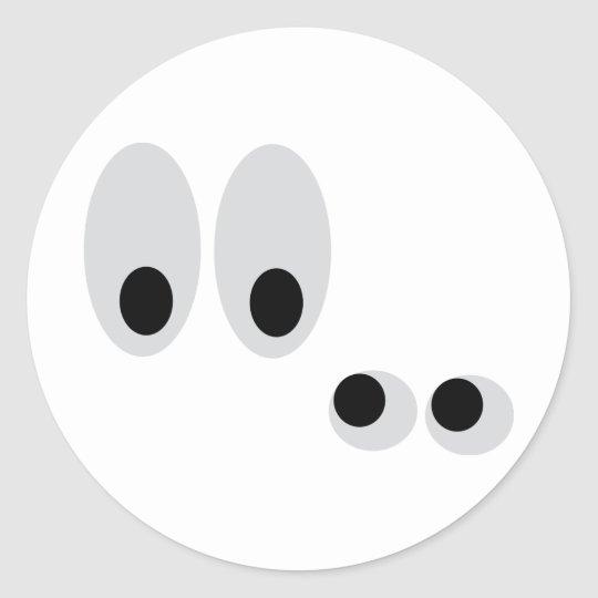 funny eyes classic round sticker