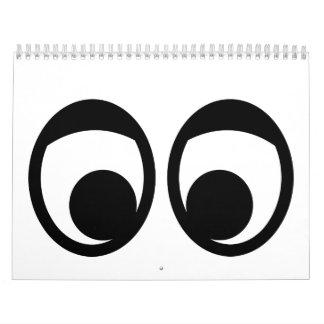 Funny eyes face calendar