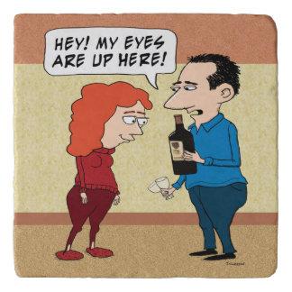 Funny Eyes On the Wine Trivet