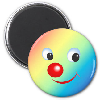 Funny Face 2 Inch Round Magnet