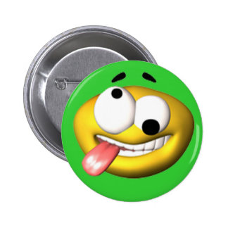 Funny Face Birthday Party Button