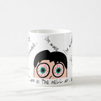 Funny face bloodshot eyes coffee mug