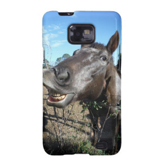 Funny Face brown horse Galaxy S2 Covers