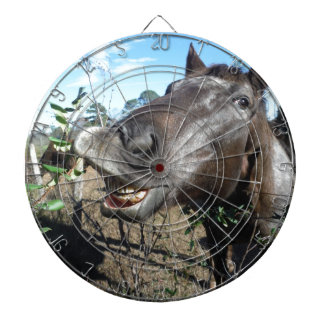 Funny Face brown horse Dart Boards