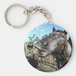 Funny Face brown horse Key Chain