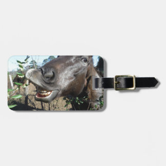 Funny Face brown horse Luggage Tag