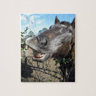 Funny Face brown horse Jigsaw Puzzles