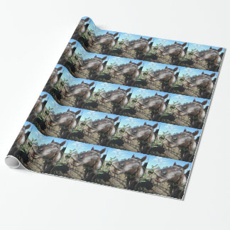 Funny Face brown horse Wrapping Paper