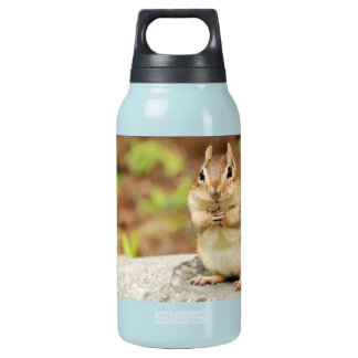 Funny Face Chipmunk Insulated Water Bottle