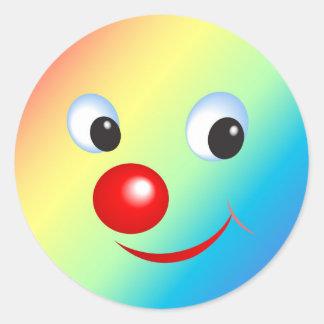 Funny Face Classic Round Sticker