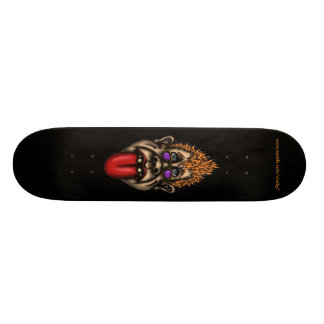Funny face cool urban graphic skateboard