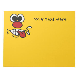 Funny Face custom notepad
