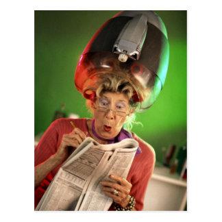 Funny Face Grandma Template Postcard