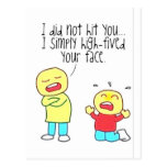 Funny Face High Five Postcards
