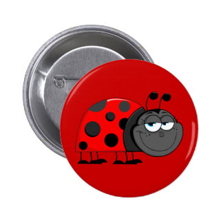 Funny Face Lady Bug Button