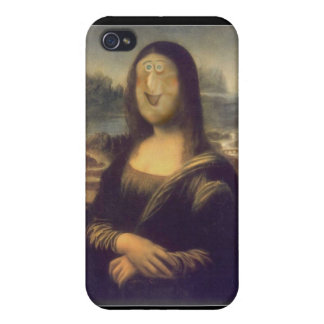 Funny Face Mona Lisa Laughter iPhone 4/4S Case