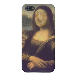 Funny Face Mona Lisa Laughter iPhone 5 Cases