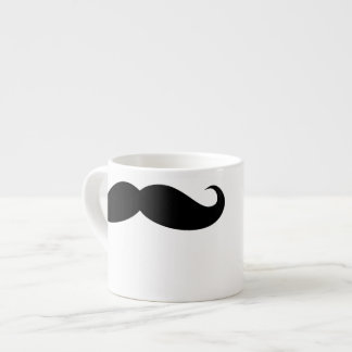 Funny Face Moustache Mug 6 Oz Ceramic Espresso Cup