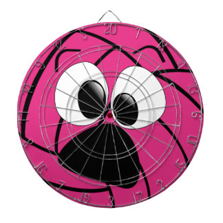 Funny Face Pink Volleyball Dartboard