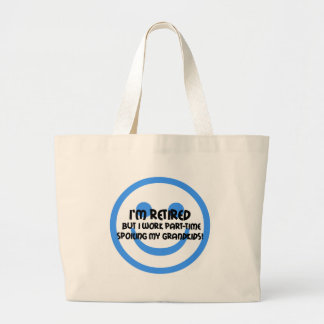 Funny face retirement tote bags
