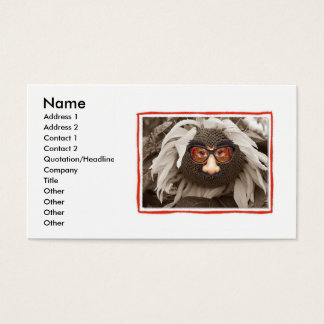 Funny Face Sunflower Business Card