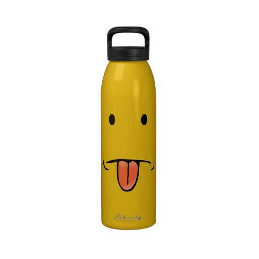 Funny Face Water Bottle