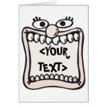 Funny Face, <YOUR TEXT> Greeting Card