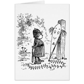 Funny Faced Kite and Brownie Card