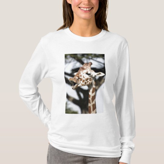 Funny faced reticulated giraffe, San Francisco T-Shirt