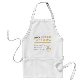 Funny Faces 50th Birthday Gag Gifts Adult Apron