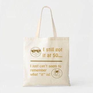 Funny Faces 50th Birthday Gag Gifts Tote Bag