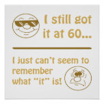 Funny Faces 60th Birthday Gag Gifts Poster