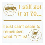 Funny Faces 70th Birthday Gag Gifts Personalized Invite