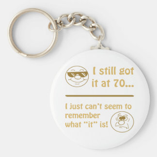Funny Faces 70th Birthday Gag Gifts Keychain