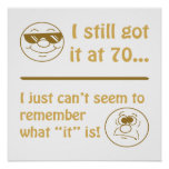 Funny Faces 70th Birthday Gag Gifts Poster