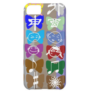 Funny Faces, Chinese Characters and Sparkles iPhone 5C Cases